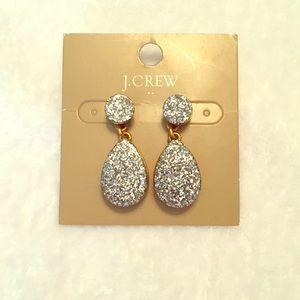 J Crew Glitter Drop Earrings